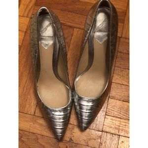 Metallic silver Brian Atwood pumps size 40